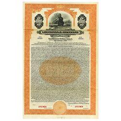 Louisiana & Arkansas Railway Co., 1929 Specimen Bond