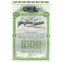 New Orleans and Southern Railroad Co., 1892 issued Bond.