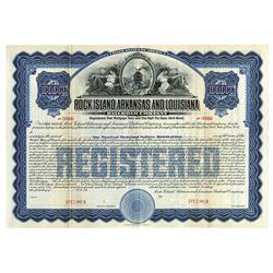 Rock Island, Arkansas and Louisiana Railroad Specimen Registered Bond. 1910.