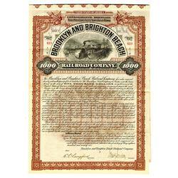 Brooklyn and Brighton Beach Railroad Co., 1896 Issued Bond