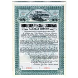 Houston and Texas Central Railroad Co., 1903 Specimen Bond
