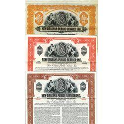 New Orleans Public Service Inc., 1925-1953 Specimen Trio