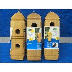 New woodpecker suet plug feeder
