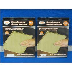 New sandpaper set 80 sheets