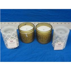 New lot of 4 flameless candels