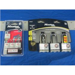 New Master lock padlocks/ set of 3