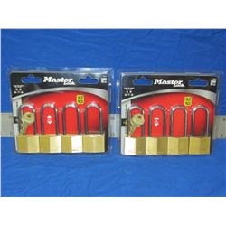 New Master lock padlocks 2 sets