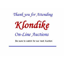 Thank you for attending Klondike On-Line Auctions