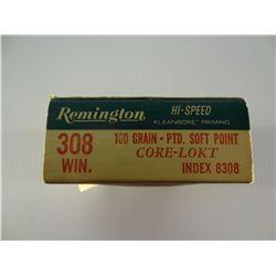 20 ROUNDS REMINGTION .308 GRAIN SP