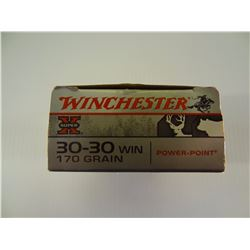 20 ROUNDS WINCHESTER .30-30 WIN 170 GRAIN PP