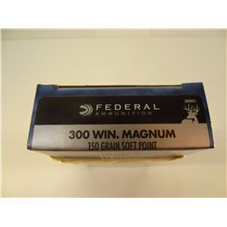 20 ROUNDS FEDERAL .300 WIN MAG 150 GRAIN SP