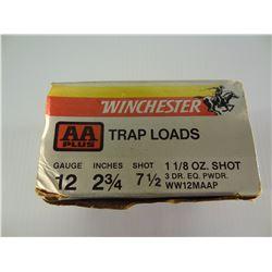 "25 ROUNDS WINCHESTER 12GA 2 3/4"" TRAP LOAD"