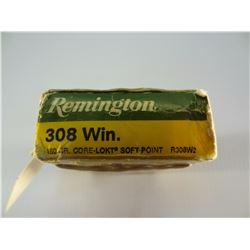 15 ROUNDS REMINGTON.308 WIN 180 GRAIN SP