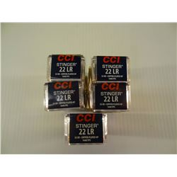250 ROUNDS CCI STINGER .22LR 32 GRAIN HP