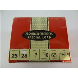 """28 ROUNDS GAMEBORE .28 CAL 2 1/2"""" 7"""