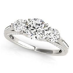 14K White Gold 3 Stone Style Round Diamond Engagement Ring (1 3/4 ct. tw.)