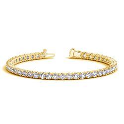 14K Yellow Gold Round Diamond Tennis Bracelet (10 ct. tw.)