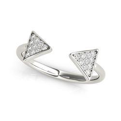 14K White Gold Diamond Arrowhead Open Ring (1/5 ct. tw.)