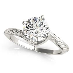14K White Gold Bypass Round Solitaire Diamond Engagement Ring (1 ct. tw.)