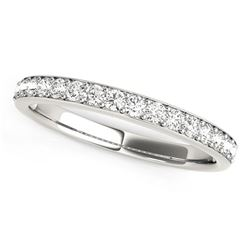 14K White Gold Prong Set Wedding Band with Diamonds (1/3 ct. tw.)
