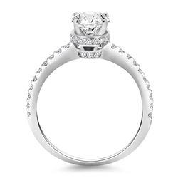 14K White Gold Diamond Collar Engagement Ring
