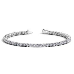14K White Gold Round Diamond Tennis Bracelet (5 ct. tw.)
