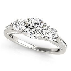 14K White Gold 3 Stone Style Round Diamond Engagement Ring (1 3/4 ct. tw.)