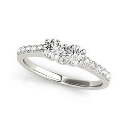 14K White Gold Round Two Stone Diamond Ring (3/4 ct. tw.)