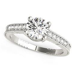 14K White Gold Round Antique Style Diamond Engagement Ring (1 1/8 ct. tw.)