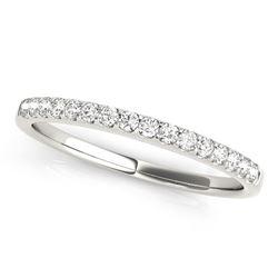 14K White Gold Diamond Scalloped Set Wedding Band (1/6 ct. tw.)