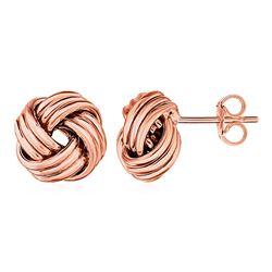 Love Knot Post Earrings in 14K Rose Gold