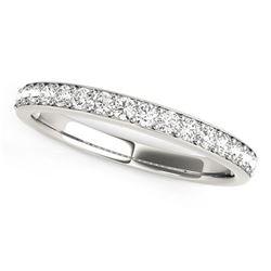 14K White Gold Prong Set Wedding Band with Diamonds (1/3 ct. tw.)