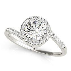 14K White Gold Halo Design Bypass Round Diamond Engagement Ring (5/8 ct. tw.)
