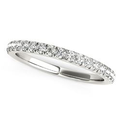 14K White Gold Pave Set Diamond Wedding Ring (1/4 ct. tw.)