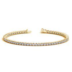 14K Yellow Gold Round Diamond Tennis Bracelet (3 ct. tw.)