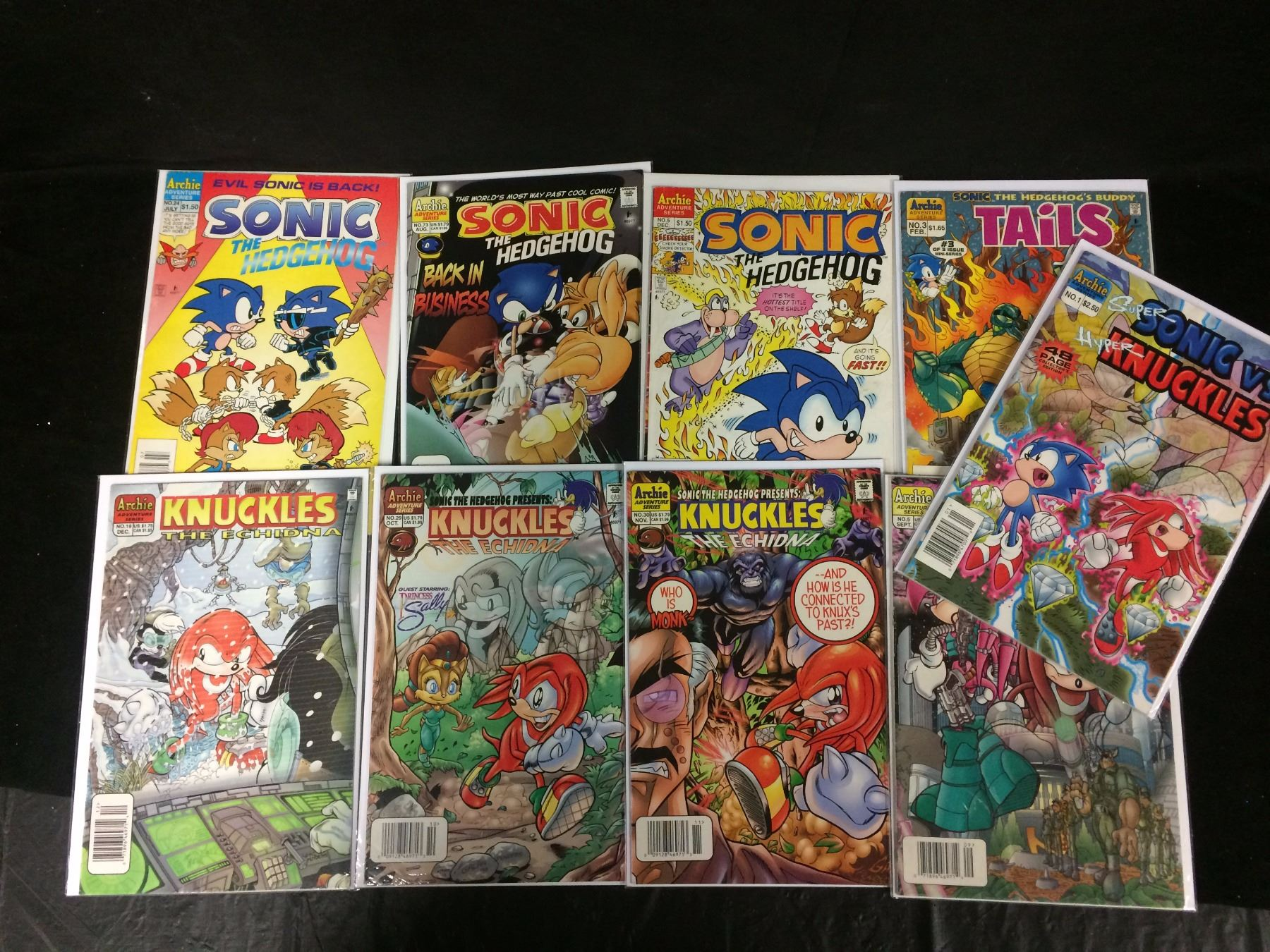 Sonic The Hedgehog Knuckles The Echidna Comic Book Lot