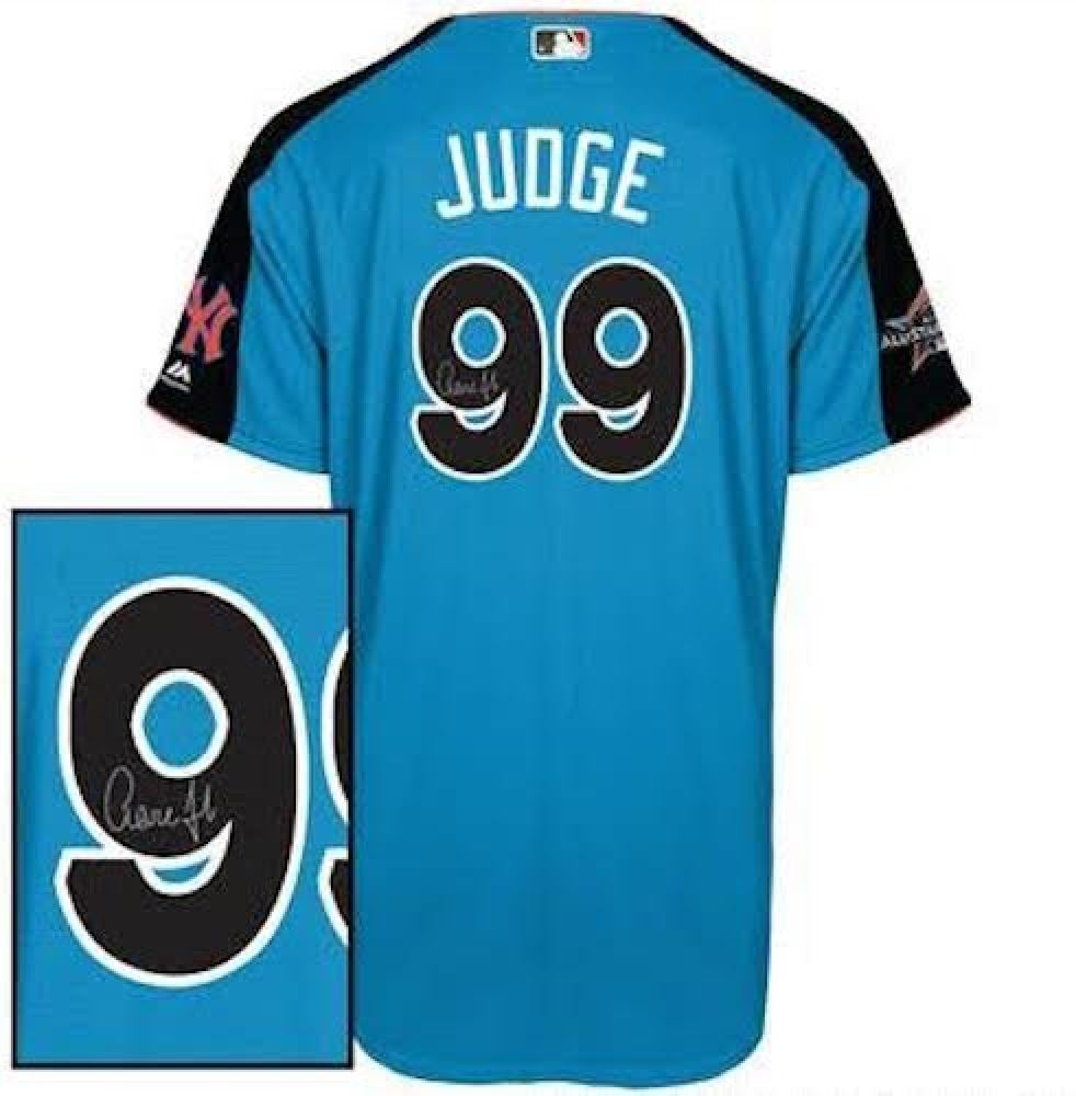 new arrival c5da4 047df Aaron Judge Signed Authentic 2017 All-Star Game Jersey ...