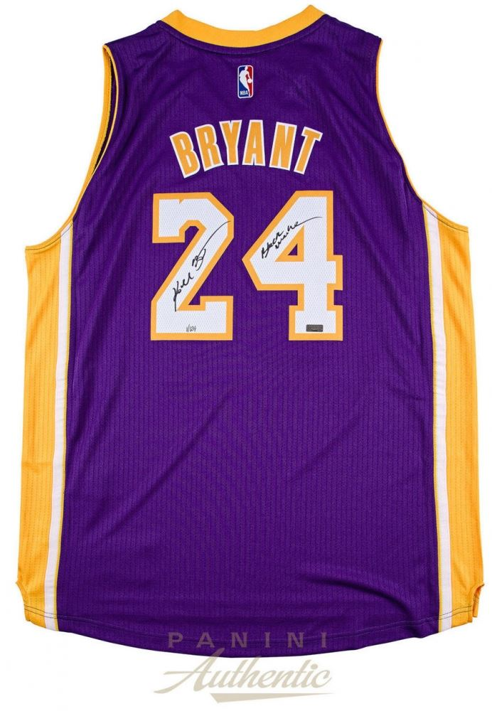 sports shoes a9c2a 1991f Kobe Bryant Signed Lakers Jersey Inscribed