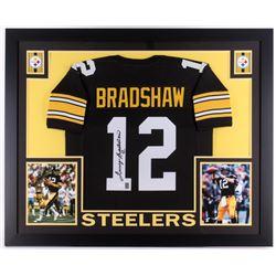 ada6a8a3356 Terry Bradshaw Signed Steelers 35 x 43 Custom Framed Jersey (JSA COA  Bradshaw Hologram)
