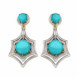 STERLING SILVER TURQUOISE DROP EARRING