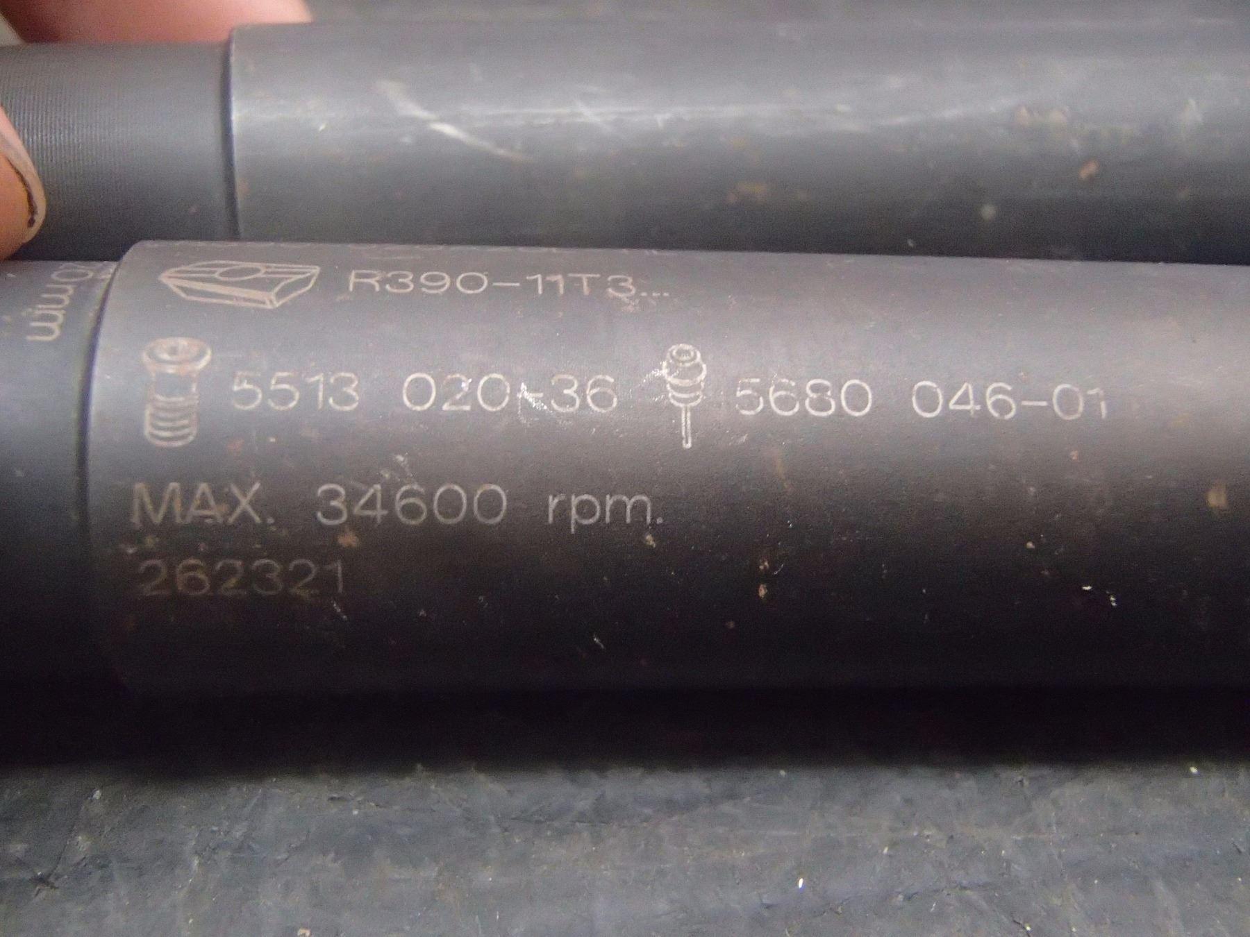 Sandvik 20mm Indexable Coolant Thru End Mills, P/N: R390-020A20L-11L