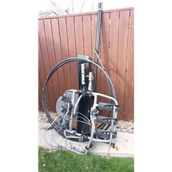Assorted Lot Of items (Sewer Snake, Bike Carrying Rack, Bell Dish)