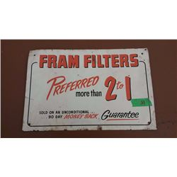 "Fram Filters Tin Sign, (15""x10"")"