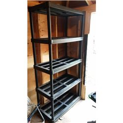"Plastic Shelving Unit (Sold 3 Times The Money) (73""x36""x18"")"