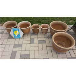 Lot Of Pots (6) (Ceramic Or Clay)