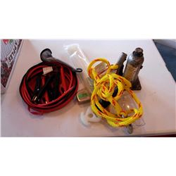 Booster Cables, bottle Jack, Tow Rope, Misc.