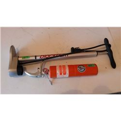Fire Extinguisher, Black Burn Bike Tire Pump