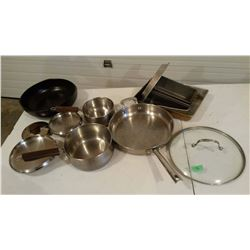 Misc. Stainless Steel Pots And Pans And Misc.