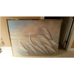 Big Picture In Frame, Signed R.Atkins