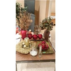 Lot Of Centre Pieces And Misc. Glass